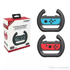 Joy-Con Steering Wheel for Nintendo Switch Controller (Set of 2) Black and Black