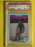 1982 O-Pee-Chee OPC MIKE ROGERS #232 NY RANGERS NHL Card PSA 9 Mint