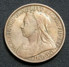 GREAT BRITAIN (UK), HI GRADE VINTAGE COIN OF QUEEN VICTORIA, ONE PENNY 1900
