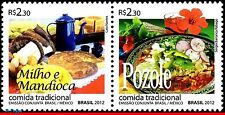 3217 BRAZIL 2012 JOINT ISSUE WITH MEXICO, MAIZE & CASSAVA & POZOLE, FOODS, MNH