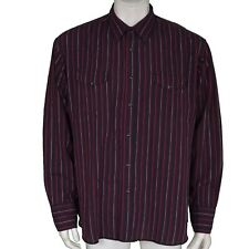 Wrangler Purple Striped Pearl Snap Long Sleeve Shirt Men's Size XL