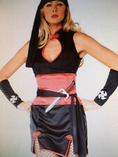 Womens Sexy NINJA FIGHTER KUNG FU DRESS Fancy Dress Costume Outfit  size 10 - 12