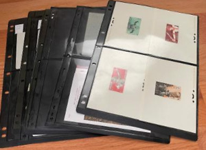 LAOS, Excellent assortment of PROOFS & Souvenir Sheets of Stamps in stock pages