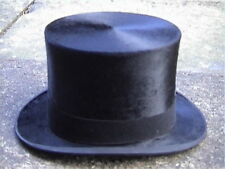 Large Fred Bingham Nottingham Black Silk Top Hat Sz. 7 Excellent..