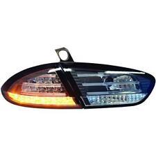 Par de faros luces traseras TUNING SEAT LEON e 09-12 negro, con LED en fr