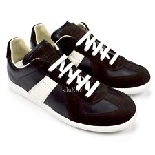 NWT $580 Maison Margiela Black White GAT German Army Trainer Sneakers AUTHENTIC