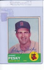 1963 TOPPS AUTOGRAPHED #343 JOHNNY PESKY RED SOX EX #002374