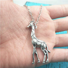Giraffe animal silver Necklace pendant ornament ,creative jewelry birthday Gift