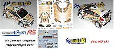 DECAL  1/43 -  FORD  FIESTA R5 -TIGER RIS - Mc. Cormack - Rally Sardegna 14