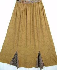 Sk93~Tienda Ho~GOLD/BRONZE~Gored MAXI Skirt~EMBROIDERED~Rayon~OS(M L XL 1X?)