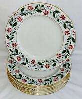 "8 Royal Doulton China*HOLLY* 10 1/2"" DINNER PLATES*TC-1169*"