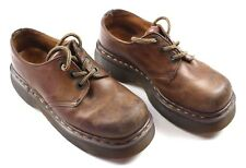 Dr. Martens Men's Size 4 Leather Shoes Brown Made In England Air Cushion Sole  k