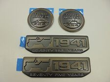 2016 Jeep Wrangler New 75th Trail Rated 4x4 & Willy's 1941 Emblem Set of 2 Mopar