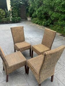 Rattan Cane Dining Chairs 4