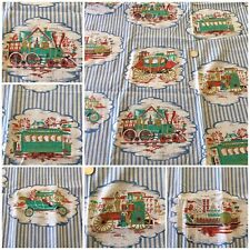 "1 yd 17"" Vintage Stripe Antique Train Steamboat Stagecoach Car 36"" W Maybelle"