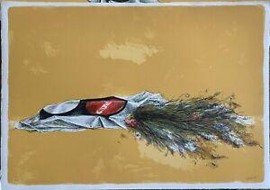 Giovanni Cappelli litografia Mazzo di Fiori   50x71 firmata anno 1975 numerata