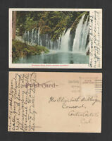 190? MOSSBRAE FALLS SHASTA SPRINGS CALIFORNIA UDB UNDIVIDED BACK  POSTCARD