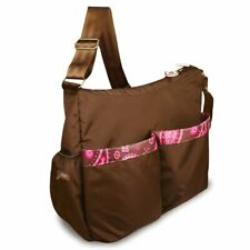 Bumkins Deluxe Diaper Bag, Brown/Pink Paisley