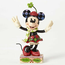 "4.75"" Christmas Minnie Mouse Figurine Figure Disney Disneyland Statue Holidays"