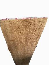 """Roasted Birdseye Maple 🍁🎸Fretboard Top Lumber Sanded Bass .3""""x7.7-6.5x33"""" Wide"""