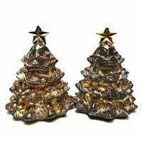 Godinger Silverplate Christmas Tree Salt & Pepper Shakers Holiday