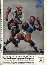 Länderspiel 22.12.1957 Deutschland - Ungarn / Hungary in Hannover