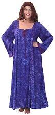 PLUS SIZE 2X 3X PURPLE BOHO BOHEMIAN HIPPY DRESS TIE FRONT LONG SLEEVE