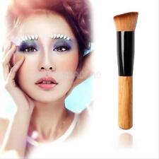 Cosmetic Kabuki Foundation Blush Angled Flat Top Base Liquid Brush Makeup Tool