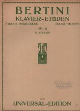 BERTINI Kavier-Etüden Etudes pour piano Piano Studies Op. 32 (L. Köhler)