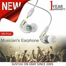 MEE Audio M6PRO 2nd Gen Musicians In Earphone¦Noise-Isolating¦Cable + Case¦Clear