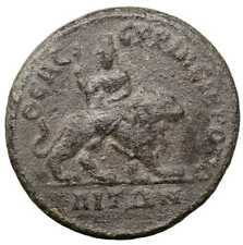 Philip II old ancient roman bronze provincial coin Rome Empire Imperial Lycia