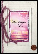 Blue Mountain Marriage Is. Birds By Barbara Cage - Embossed Greeting Card New