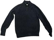 Boys Jcrew Crewcuts 1/4 Zip Sweater Gray 14 Cotton/ Cashmere Blend Pullover