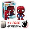 FUNKO POP MARVEL SPIDER-MAN #03 VINYL FIGURE + POP PROTECTOR