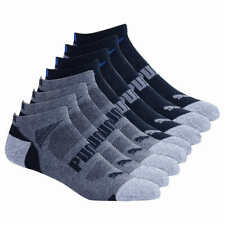 PUMA No Show Size 10-13 Men's Black Socks - 8 Pairs