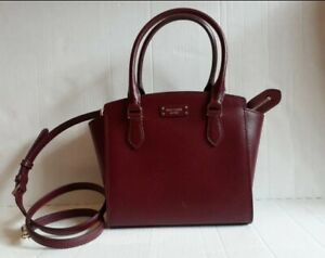 Kate Spade Jeanne Small Leather cherrywood. 100% Authentic.