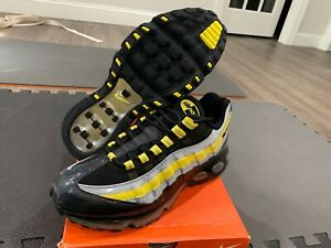 Nike Air Max '95 360 Black/Yellow/Silver - Size 10 -Deadstock