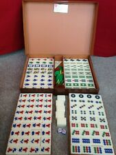 Ma-Jong - Mah Jong Vintage Set Complete in Brown Travel Case - Complete