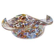 GlassOfVenice Murano Glass Millefiori Fazzoletto Bowl