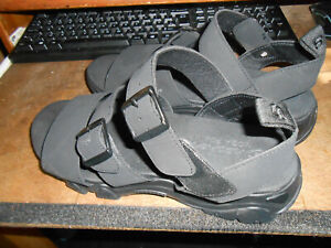 black skechers sandals size 8 worn once with hook and loop fastening