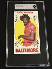 HOF EARL MONROE 1969-70 TOPPS ROOKIE SIGNED AUTOGRAPHED CARD #80 SGC AUTHENTIC