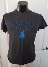 TALK NERDY TO ME Nerds Candy Cotton Blend Size Small Gray T-Shirt Glasses Retro