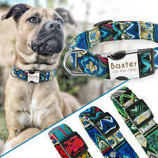 Custom Personalized Engraved Dog Collar Adjustable Small Large Rottweiler Boxer