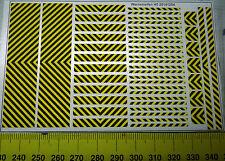 Warnstreifen schwarz/gelb Decalbogen  Decals 1:87 oder H0