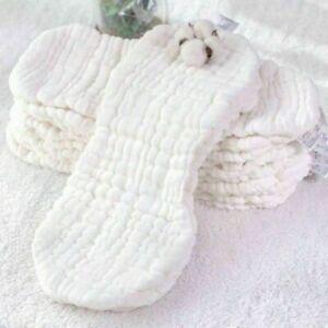 10 X reine Baumwolle wiederverwendbar Baby Tuch 12 Schichten Windel Einlagen