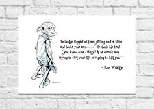 Dobby is Helping Harry Potter/Ron - Must Have For All Fans - Poster/Art Print A4