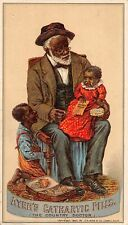 F47/ Victorian Trade Card Black Americana Kids Ayer's Cathartic Pills 20