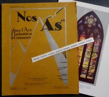 Rare Revue NOS AS Janv-Fév 1929 + LAS JEAN SCHERBECK vitraux GEORGES JANIN Nancy