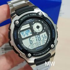 Últimas Casio ae-2100wd-1a Digital World Time Hombre Deportes 5 Alarmas 200m Reloj