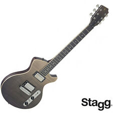 NEW Stagg SILVERAY SERIES Special Deluxe Flamed Maple Top Electric Guitar Black